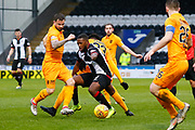 Duckens Nazon of St Mirren challenging for the ball amongst a crowd of Livingston players during the Ladbrokes Scottish Premiership match between St Mirren and Livingston at the Simple Digital Arena, Paisley, Scotland on 2nd March 2019.