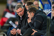 Heart of Midlothian manager Craig Levein sits on the bench during the Ladbrokes Scottish Premiership match between St Johnstone FC and Heart of Midlothian FC at McDiarmid Park, Perth, Scotland on 30 October 2019.