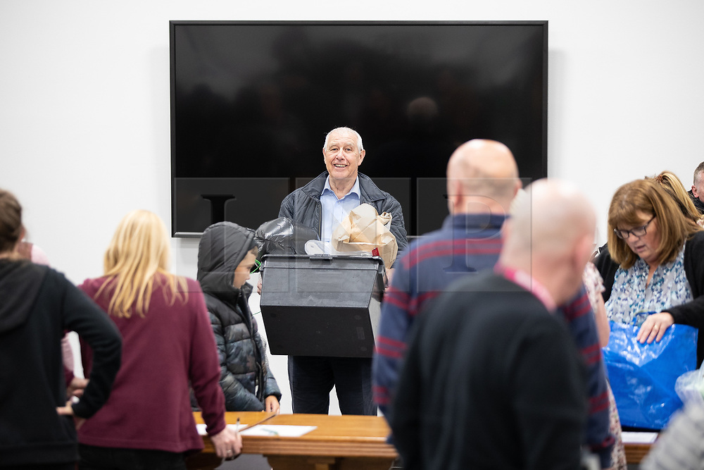 © Licensed to London News Pictures . 02/05/2019. Bolton, UK. Ballot boxes are brought in to Bolton Town Hall . The count for Bolton Council at Bolton Town Hall . The Labour Party are threatened to lose their majority on the council . Local council elections are taking place across the country . Photo credit: Joel Goodman/LNP