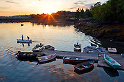 Sunrise photo of lobstermen for editorial, commercial and stock usage taken in Addison, Maine.