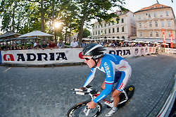 Boris Shpilevsky (RUS) of Lokosphinx competes during Stage 1of  cycling race 20th Tour de Slovenie 2013 - Time Trial 8,8 km in Ljubljana,  on June 12, 2013 in Slovenia. (Photo By Vid Ponikvar / Sportida)