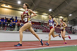 Boston University Multi-team indoor track & field, women's one mile, heat 1, Boston College, 371, Sacred Heart, 491