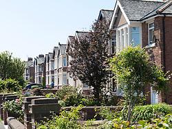 Row of semi-detached villas in Blackpool.