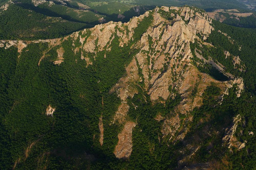 Flight shots over the Arda river canyon, Madzharovo, Eastern Rhodope mountains, Bulgaria