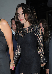 Kelly Brook leaving Scott's restaurant with friends in Mayfair, London, UK. 24/09/2013<br />