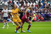 Becky Spencer (GK) (Tottenham Hotspur) saves the ball during the FA Women's Super League match between West Ham United Women and Tottenham Hotspur Women at the London Stadium, London, England on 29 September 2019.