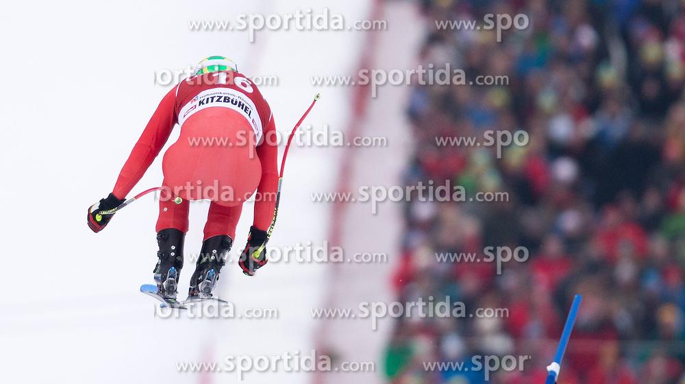 23.01.2015, Streif, Kitzbuehel, AUT, FIS Ski Weltcup, Supercombi Super G, Herren, im Bild Dominik Paris (ITA) // Dominik Paris of Italy in action during the men's Super Combined Super-G of Kitzbuehel FIS Ski Alpine World Cup at the Streif Course in Kitzbuehel, Austria on 2015/01/23. EXPA Pictures © 2015, PhotoCredit: EXPA/ Johann Groder
