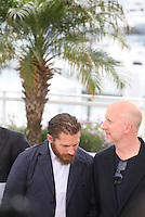 Tom Hardy, John Hillcoat, at the Lawless film photocall at the 65th Cannes Film Festival. The screenplay for the film Lawless was written by Nick Cave and Directed by John Hillcoat. Saturday 19th May 2012 in Cannes Film Festival, France.