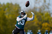 Philadelphia Eagles Josh Adams RB (33) during the press, training and media day for Philadephia Eagles at London Irish Training Ground, Hazelwood Centre, United Kingdom on 26 October 2018. Picture by Jason Brown.