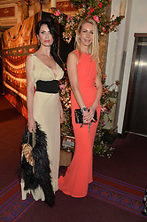 Left to right, NATALIE RESH and ELENA MOORE at The Backstage Gala hosted by Diana Vishneva , Principal Dancer of the Mariinsky and American Ballet Theatre, and Natalia Vodianova in aid of The Naked Heart Foundation held at The London Coliseum, St.Martin's Lane, London on 17th April 2015.