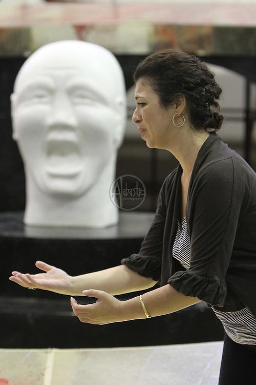 Turandot Staging #1, Seattle Opera, July 11, 2012. Lina Tetriani.