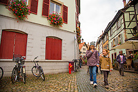 Strasbourg, France - November 16, 2014: The historic neighborhood, which is known for its medieval half-timbered houses, lies on Grande Île, where the river Ill splits into a number of canals. The neigborhood's winding cobblestone streets and beautiful views invite locals and tourists alike for a stroll.CREDIT: Chris Carmichael for the New York Times