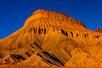 Mount Garfield, part of the Little Book Cliffs (near Grand Junction), Western Colorado.