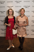 CYNTHIA CORBETT and AMANDA WALSH at the Whitechapel Gallery Art Icon 2015 Gala dinner supported by the Swarovski Foundation. The Banking Hall, Cornhill, London. 19 March 2015