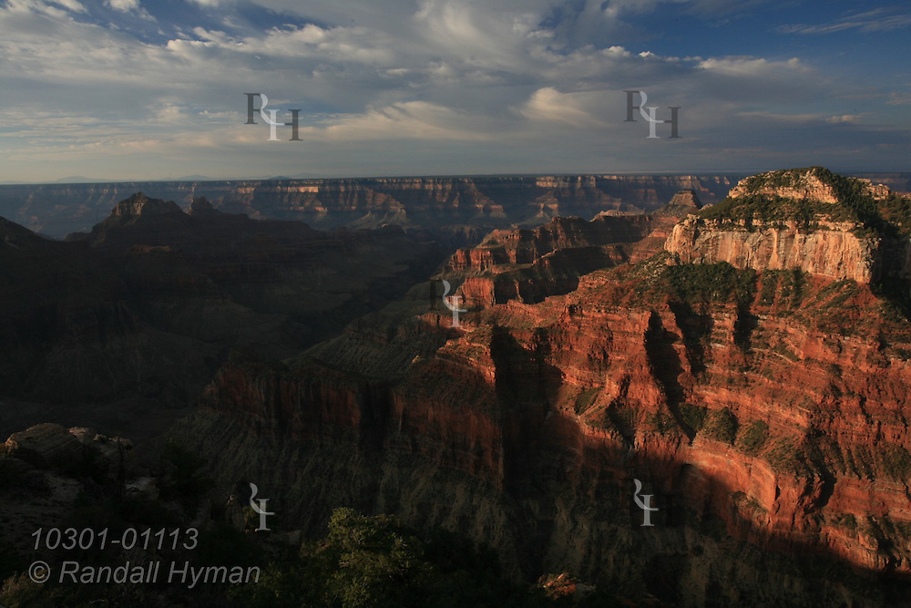 September sunrise at Bright Angel Point, North Rim, Grand Canyon National Park, Arizona.