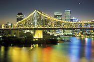 view from Wilson Outlook Reserve.Story Bridge & Brisbane River.Brisbane.Queensland.Australia