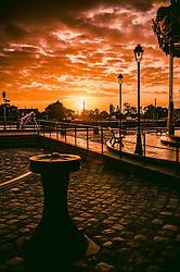 Dawn in Honfleur, Normandy, France