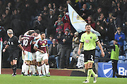 Burnley Midfielder, George Boyd (21) scores 3-1 during the Premier League match between Burnley and Bournemouth at Turf Moor, Burnley, England on 10 December 2016. Photo by Mark Pollitt.