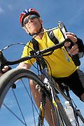 Man Enjoying a Bicycle Ride