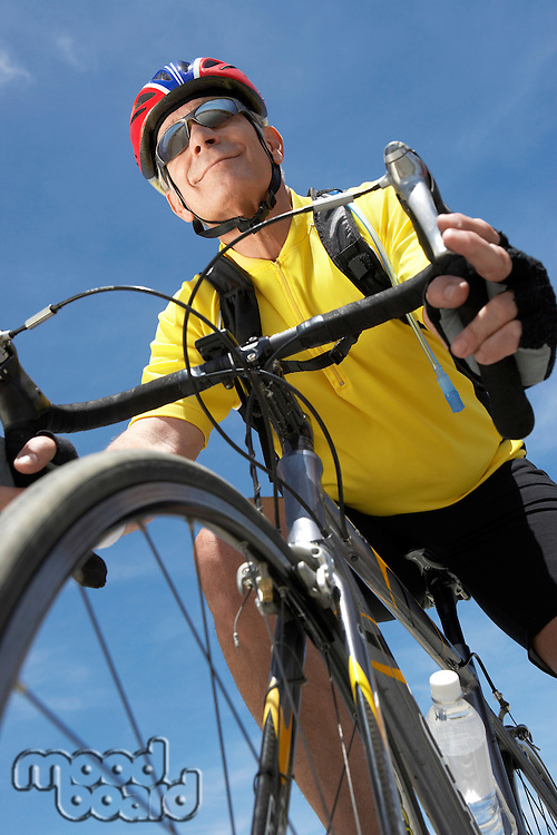 Man Enjoying a Bicycle Ride