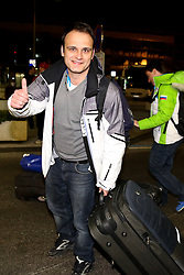 Marko Pangerc at reception of Slovenia team arrived from Winter Olympic Games Sochi 2014 on February 24, 2014 at Airport Joze Pucnik, Brnik, Slovenia. Photo by Vid Ponikvar / Sportida