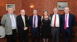 Westport GAA Club dinner dance at Hotel Westport Club Chairman,Austin Groden, Paddy Muldoon, Mayo GAA Chairman Mike Connelly, Westport Club Treasurer Ann Baynes, Sean Sammon and Seamus Touhy Vice Chairman Mayo County Board.<br />
