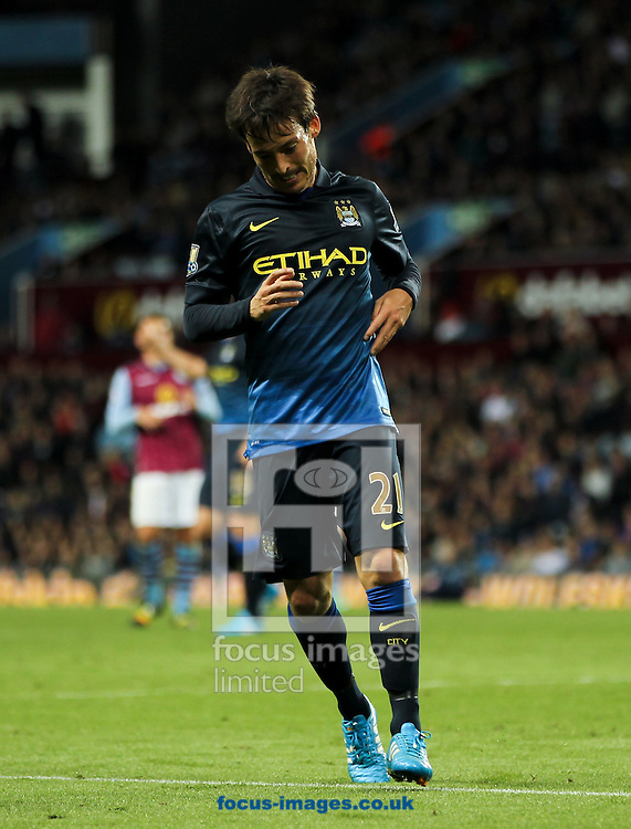 David Silva of Manchester City during the Barclays Premier League match at Villa Park, Birmingham<br /> Picture by Tom Smith/Focus Images Ltd 07545141164<br /> 04/10/2014