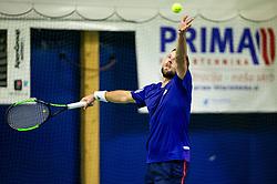 Tom Kocevar Desman playing final match during Slovenian National Tennis Championship 2019, on December 21, 2019 in Medvode, Slovenia. Photo by Vid Ponikvar/ Sportida