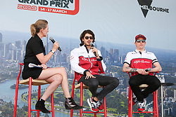 March 16, 2019 - KIMI RAIKKONEN and ANTIONIO GIOVINAZZI  attending the F1 Driver Q&A Panel on Qualifying Saturday at the 2019 Formula 1 Australian Grand Prix on March 16, 2019 In Melbourne, Australia  (Credit Image: © Christopher Khoury/Australian Press Agency via ZUMA  Wire)