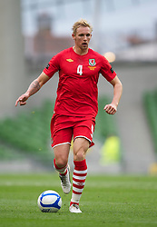 DUBLIN, REPUBLIC OF IRELAND - Friday, May 27, 2011: Wales' Jack Collison in action against Northern Ireland during the Carling Nations Cup match at the Aviva Stadium (Lansdowne Road). (Photo by David Rawcliffe/Propaganda)