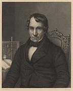 Thomas Thomson (1773-1852), Scottish chemist born at Crieff, Perthshire.  Regius professor of chemistry at Glasgow university (1817).    From James Sheridan Muspratt 'Chemistry' (London, c1860). Engraving. B