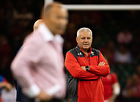 Rugby Union - 2019 pre-Rugby World Cup warm-up (Under Armour Summer Series) - Wales vs. England<br /> <br /> Wales' Head Coach Warren Gatland looks on, at Principality (Millennium) Stadium.<br /> <br /> COLORSPORT/ASHLEY WESTERN