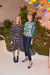 Left to right, DONNA AIR and JADE PARFITT at a preview of Mayfair's first Flower Show at Sketch, 9 Conduit Street, London on 18th May 2016.
