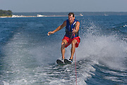 John Roemer water skis on the bay of Green Bay in Door County, Wisconsin © Mike Roemer / Mike Roemer Photography Inc.  920-347-9323.