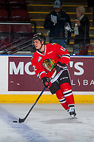 KELOWNA, CANADA - JANUARY 21: Ilijah Colina #12 of the Portland Winterhawks warms up with the puck against the Kelowna Rockets on January 21, 2017 at Prospera Place in Kelowna, British Columbia, Canada.  (Photo by Marissa Baecker/Getty Images)  *** Local Caption *** Ilijah Colina;'
