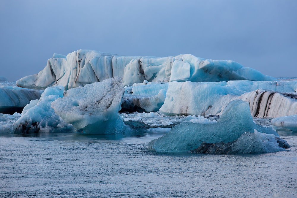 Icebergs at Jökulsárlón in south-east Iceland