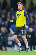 Derby County midfielder Mason Mount (8) warms up prior to the EFL Cup 4th round match between Chelsea and Derby County at Stamford Bridge, London, England on 31 October 2018.