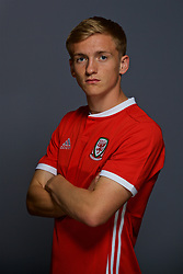 CARDIFF, WALES - Tuesday, September 4, 2018: Wales' Matthew Smith. (Pic by David Rawcliffe/Propaganda)