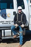 OEC lineman Chris Croslin for Oklahoma Living Magazine