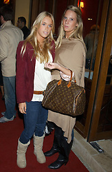 Left to right, MARY CHARTERIS and ALICE DAWSON at a party to celebrate the opening of Ishtar - a new mediterainian restaurant in Crawford Street, London W1 on 15th September 2004.<br />
