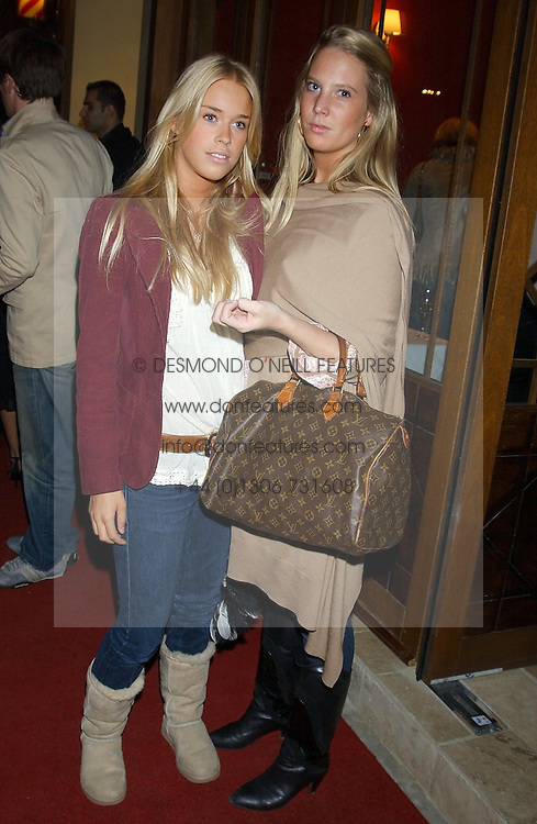 Left to right, MARY CHARTERIS and ALICE DAWSON at a party to celebrate the opening of Ishtar - a new mediterainian restaurant in Crawford Street, London W1 on 15th September 2004.<br /><br />NON EXCLUSIVE - WORLD RIGHTS