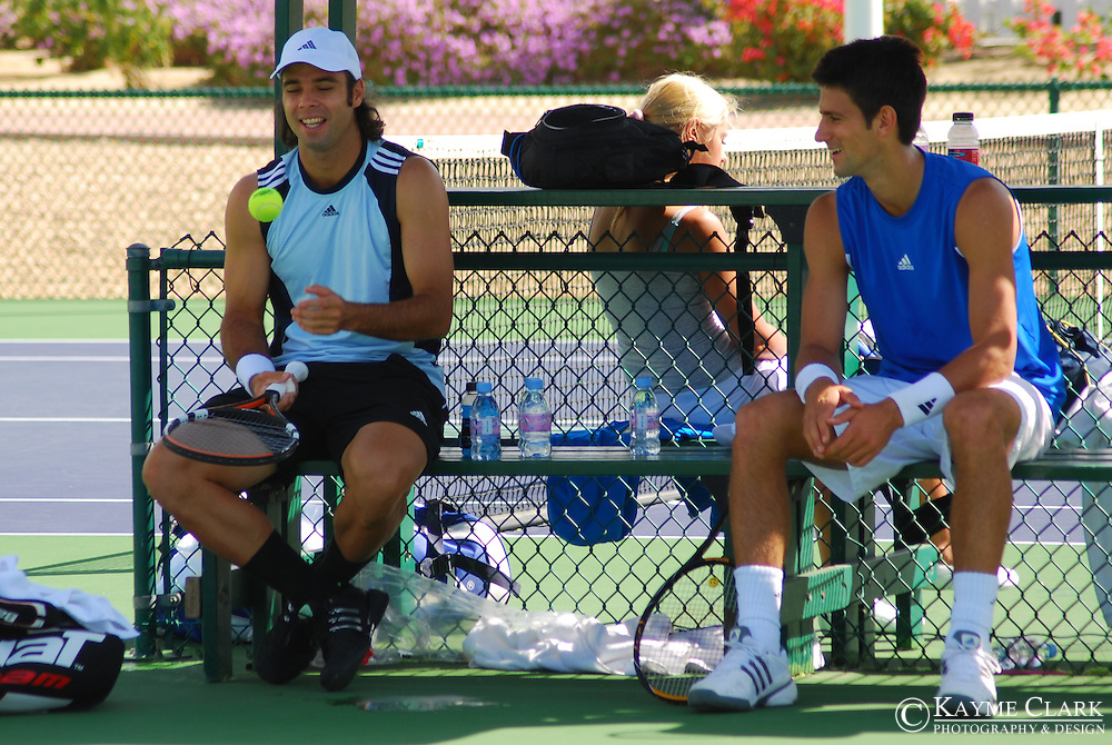 Fernando Gonzalez, Chile, Novak Djokovic, Serbia, ATP Players, Pacific Life Open Tennis Tournament, Indian Wells Tennis Garden, California, United States