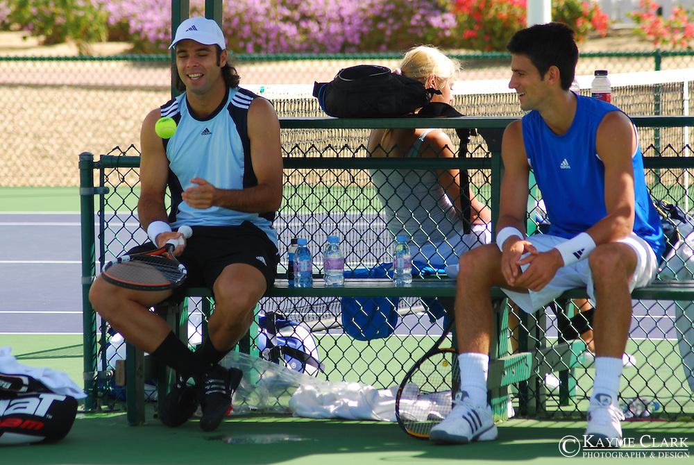 Fernando Gonzalez, Chile, Novak Djokovic, Serbia, ATP Players, Pacific Life Open Tennis Tournament, Indian Wells Tennis Garden, California, United States