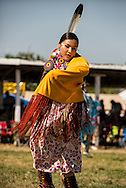 Crow Fair Powwow, Fancy Shawl dancer, Crow Indian Reservation, Montana