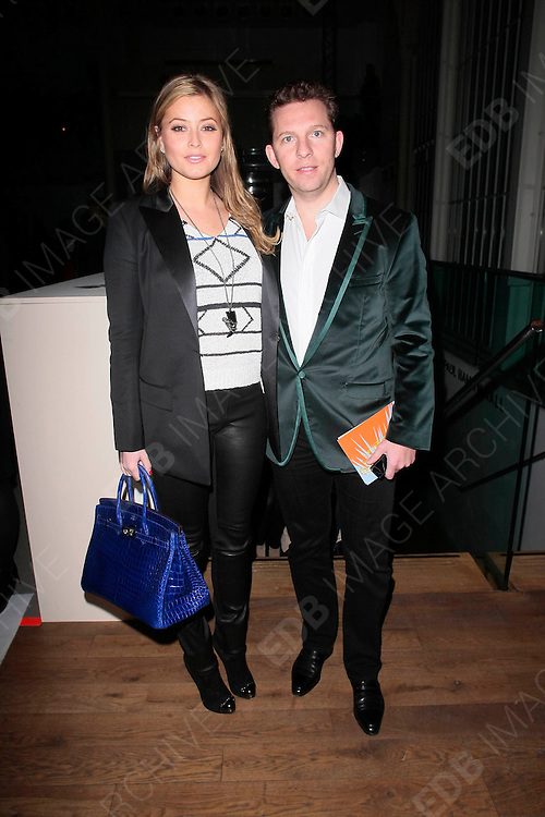 19.FEBRUARY.2012. LONDON<br /> <br /> HOLLY VALANCE AND NICK CANDY AT THE MATTHEW WILLIAMSON FASHION SHOW AT LONDON FASHION WEEK AT THE ROYAL OPERA HOUSE IN LONDON<br /> <br /> BYLINE: EDBIMAGEARCHIVE.COM<br /> <br /> *THIS IMAGE IS STRICTLY FOR UK NEWSPAPERS AND MAGAZINES ONLY*<br /> *FOR WORLD WIDE SALES AND WEB USE PLEASE CONTACT EDBIMAGEARCHIVE - 0208 954 5968*