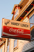 Newport, RI.–The classic sign of Gary's handy lunch eatery on Thames street