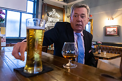William Gleeson, 62 discusses Brexit at the Darby Arms pub in Kilburn with Bild Reporter Philip Fabian in London. London January 13 2019.