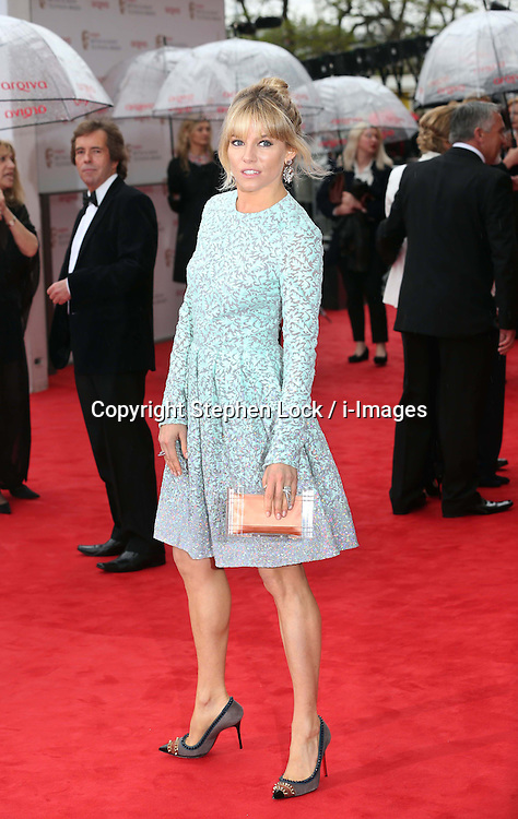 Sienna Miller  arriving at the BAFTA Television Awards in London, Sunday, May 12th  2013.  Photo by: Stephen Lock / i-Images<br />
