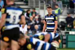 Ollie Devoto of Bath Rugby watches a scrum - Mandatory byline: Patrick Khachfe/JMP - 07966 386802 - 26/09/2015 - RUGBY UNION - The Recreation Ground - Bath, England - Bath Rugby v Gloucester Rugby - West Country Challenge Cup.