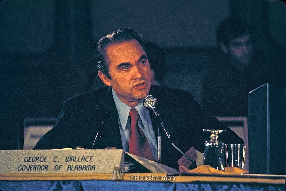 Alabama Governor George C. Wallace at Southern Governors Conference in Atlanta GA in 1971